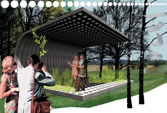"""Schattenspiel mit Kletterpflanze: """"Gazebo Grid"""""""