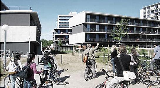 Besichtigung von Studenten-Wohnheimen am Neckar