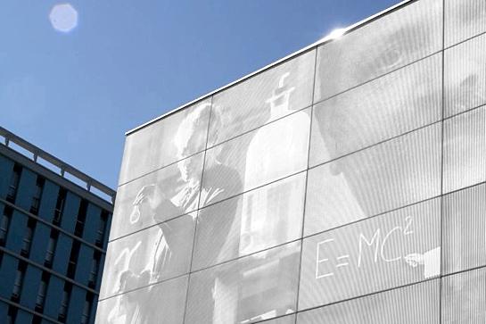 Foto-Gravur-Technik: Fassade der Universitaet Toulouse