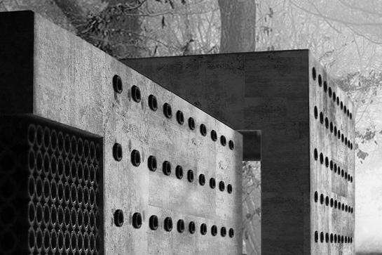 Das Atelierhaus aus Stroh-Beton von Paul Jäger und Tobias Kilz (HTWK Leipzig)