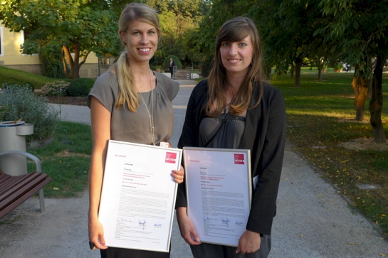 Ausgezeichnet: Katharina Honkomp und Marieke Behne von der HafenCity Universität Hamburg