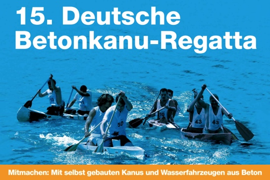 Betonkanu-Regatta 2015: Jetzt anmelden!