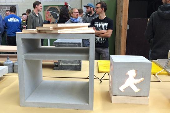 Beton-Workshop der Hochschule Konstanz und der Handwerkskammer Freiburg 2014