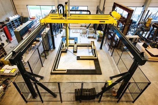 Der 3D-Beton-Drucker von oben