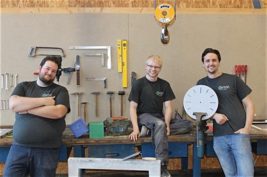 Werkstattfoto: Die CONtopia-Gründer