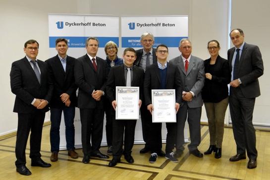 Förderpreis für Betontechnologie: Preisträger und Jury